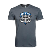 Next Level SoftStyle Charcoal T Shirt-IPFW Mastodon Shield