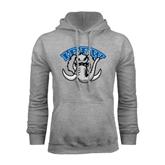Grey Fleece Hoodie-Arched IPFW with Mastodon