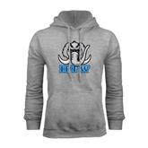 Grey Fleece Hoodie-Mastodon with IPFW