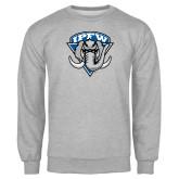 Grey Fleece Crew-IPFW Mastodon Shield