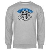 Grey Fleece Crew-Arched IPFW with Mastodon