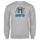 Grey Fleece Crew-Mastodon with IPFW