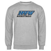 Grey Fleece Crew-Basketball