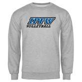 Grey Fleece Crew-Volleyball