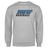 Grey Fleece Crew-Baseball