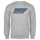 Grey Fleece Crew-Soccer
