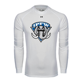Under Armour White Long Sleeve Tech Tee-IPFW Mastodon Shield