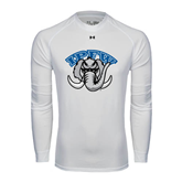 Under Armour White Long Sleeve Tech Tee-Arched IPFW with Mastodon