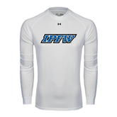 Under Armour White Long Sleeve Tech Tee-IPFW