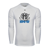 Under Armour White Long Sleeve Tech Tee-Mastodon with IPFW