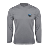 Syntrel Performance Steel Longsleeve Shirt-IPFW Mastodon Shield