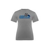 Youth Syntrel Performance Steel Training Tee-Soccer Swoosh Design