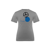 Youth Syntrel Performance Steel Training Tee-Peace, Love, and Volleyball