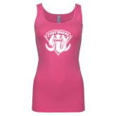 Next Level Ladies Junior Fit Fuchsia Jersey Tank-Primary Mark