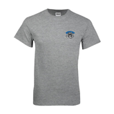 Grey T Shirt-Arched IPFW with Mastodon