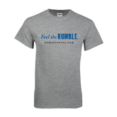 Grey T Shirt-Feel The Rumble