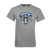 Grey T Shirt-IPFW Mastodon Shield
