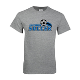 Grey T Shirt-Soccer Swoosh Design