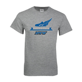 Grey T Shirt-Track and Field Side Shoe Design