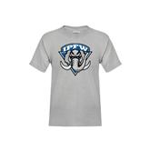 Youth Grey T-Shirt-IPFW Mastodon Shield