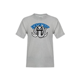 Youth Grey T-Shirt-Arched IPFW with Mastodon