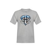 Youth Grey T-Shirt-IPFW Mastodon Shield Distressed