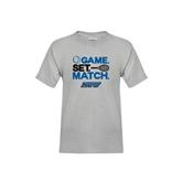 Youth Grey T-Shirt-Game Set Match Tennis Design
