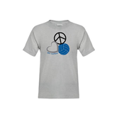 Youth Grey T-Shirt-Peace, Love, and Volleyball