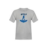 Youth Grey T-Shirt-Golfer Golf Design