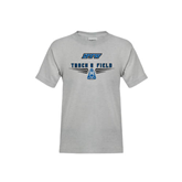 Youth Grey T-Shirt-Track and Field Design