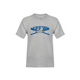Youth Grey T-Shirt-Baseball Bats Design