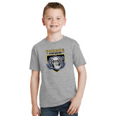 Youth Grey T Shirt-Primary Athletic Logo