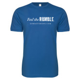 Next Level SoftStyle Royal T Shirt-Feel the Rumble