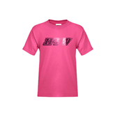 Youth Fuchsia T Shirt-IPFW Distressed Foil