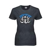 Ladies Dark Heather T Shirt-Arched IPFW with Mastodon