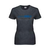 Ladies Dark Heather T Shirt-Feel The Rumble
