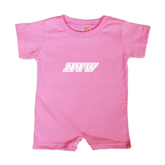 Bubble Gum Pink Infant Romper-IPFW