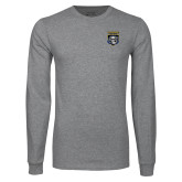 Grey Long Sleeve T Shirt-Primary Athletic Logo