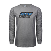 Grey Long Sleeve TShirt-Baseball