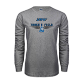 Grey Long Sleeve TShirt-Track and Field Design
