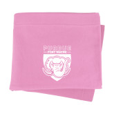 Pink Sweatshirt Blanket-Primary Athletic Logo