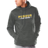Under Armour Carbon Armour Fleece Hoodie-Athletics Primary Wordmark
