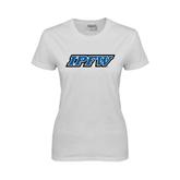 Ladies White T Shirt-IPFW