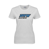 Ladies White T Shirt-Alumni
