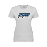 Ladies White T Shirt-Mom