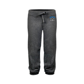 ENZA Ladies Dark Heather Banded Fleece Capri-Arched IPFW with Mastodon