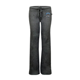 ENZA Ladies Dark Heather Fleece Pant-IPFW Mastodon Shield