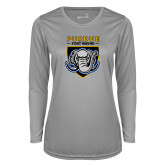 Ladies Syntrel Performance Platinum Longsleeve Shirt-Primary Athletic Logo