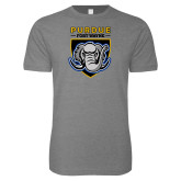 Next Level SoftStyle Heather Grey T Shirt-Primary Athletic Logo