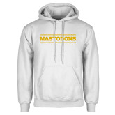 White Fleece Hoodie-Secondary Athletics Wordmark
